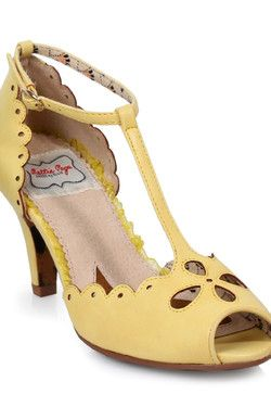 Ellie Heels for Bettie Page Claire in Yellow