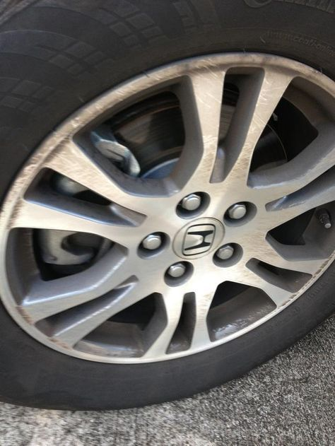 Dirty rim (last week we took our vehicle to a automatic car wash, the rims never fully get clean)