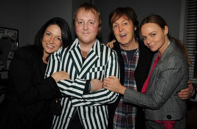 Paul McCartney with his children Mary, James and Stella McCartney.