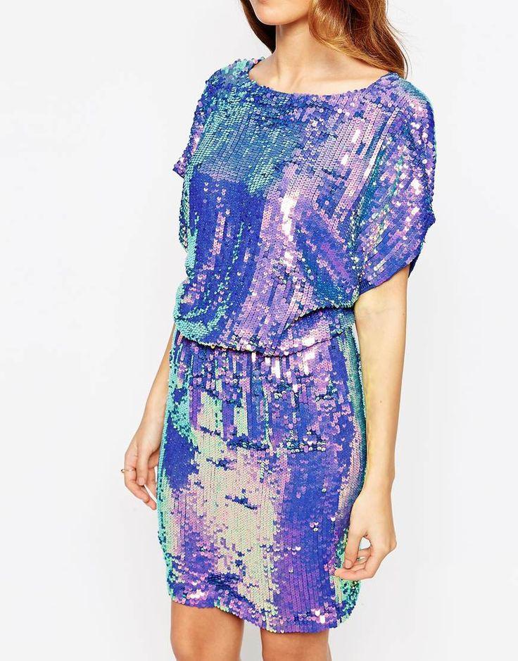 Image 3 ofWarehouse Premium All Over Sequin Dress