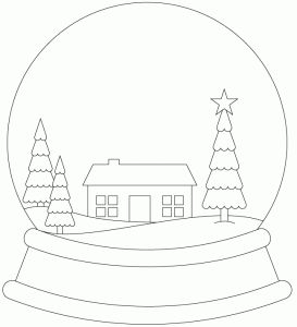 Snowglobe Scene by Bird. I think you could create a cake globe and make it look like a snow globe as a gift idea.