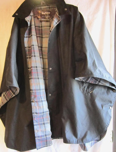 Barbour Women S Black Waxed Cotton Cape One Size Ebay