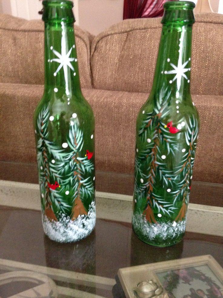 Candle Sticks Repurposed Wine Bottles
