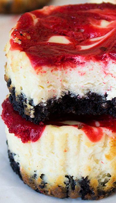 Mini Strawberry Swirl Cheesecake | Recipe