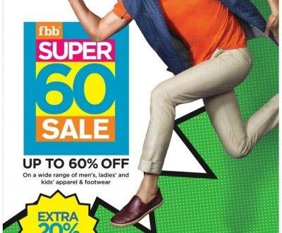 FBB Super 60 Sale Offer : Big Bazaar Super 60 Sale Offer Jan 2016 : Fashion at Big Bazaar - Best Online Offer