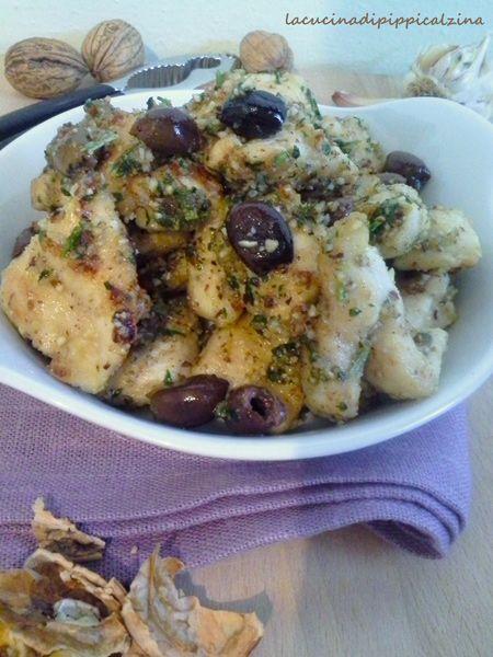 Pollo alle noci e olive taggiasche