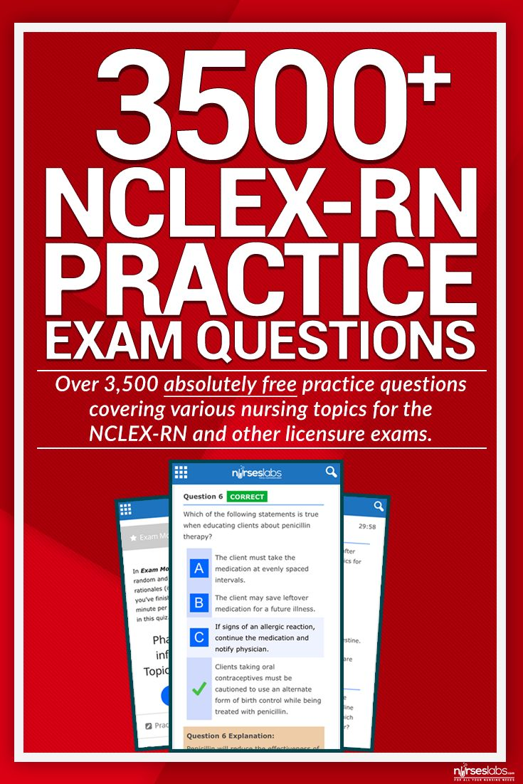 nursing practice test Over 200 free nclex-rn exam practice test questions with thorough rationales for explanation of answers to help give you a leg up for the special day.