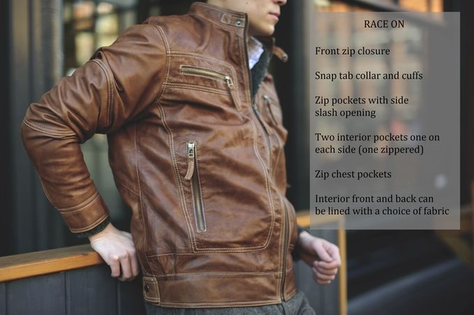 Cafe Moto Leather Jacket