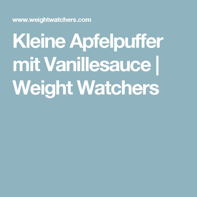 Kleine Apfelpuffer mit Vanillesauce | Weight Watchers