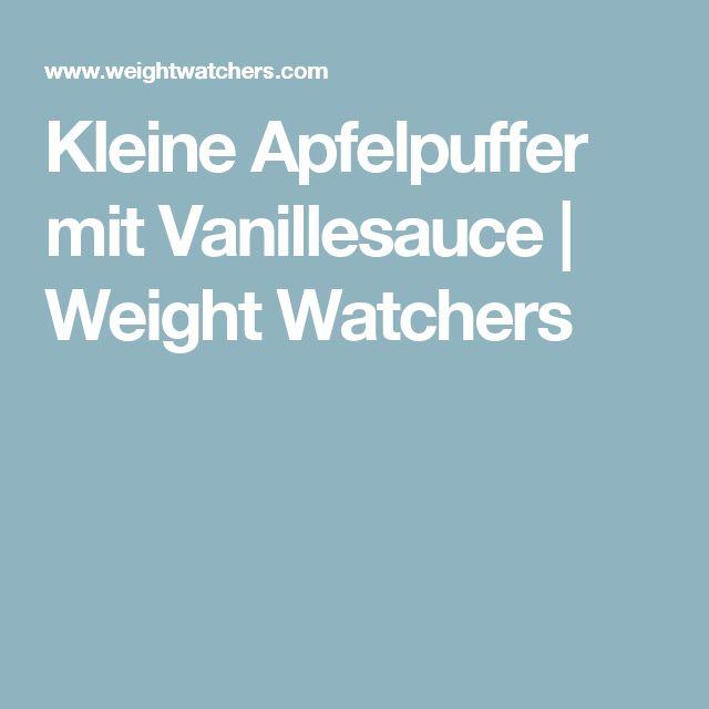 Kleine Apfelpuffer mit Vanillesauce | Weight Watchers