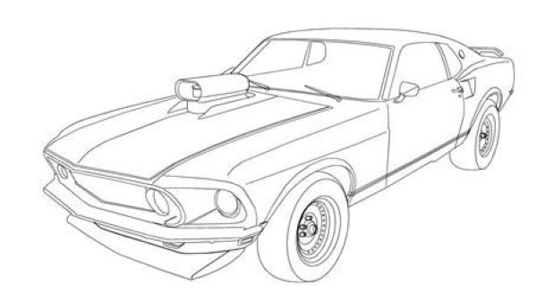 Free Muscle Cars Coloring Pages Cars Coloring Pages Car Colors Cool Car Drawings