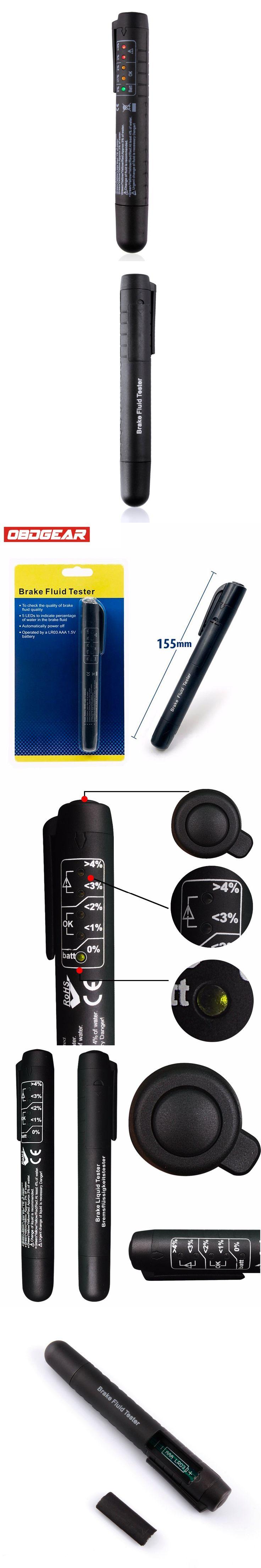 Brake Fluid Liquid Tester Pen With 5 LED Car Auto Vehicle Tools Car Vehicle Auto Automotive Diagnostic Tool For DOT3/DOT4 Auto