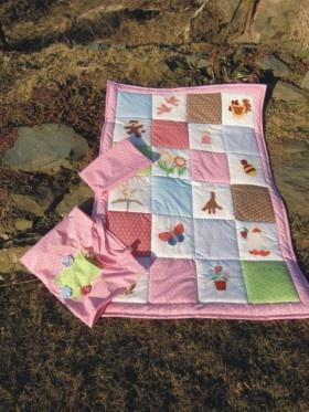 Patchworková deka pro holčičku