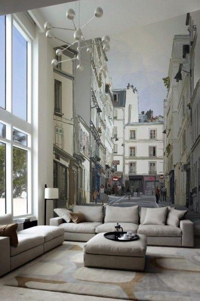 Обои с перспективой — для визуального расширения маленькой комнаты   Ремонт в хрущевке. Дизайн интерьера маленькой квартиры