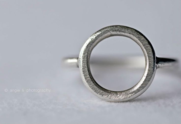 925 recycled silver ring; manufactured