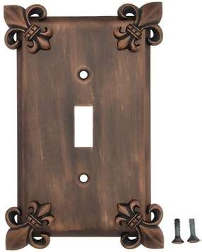 Fleur-De-Lis Wall Plate (Antique Copper Finish)