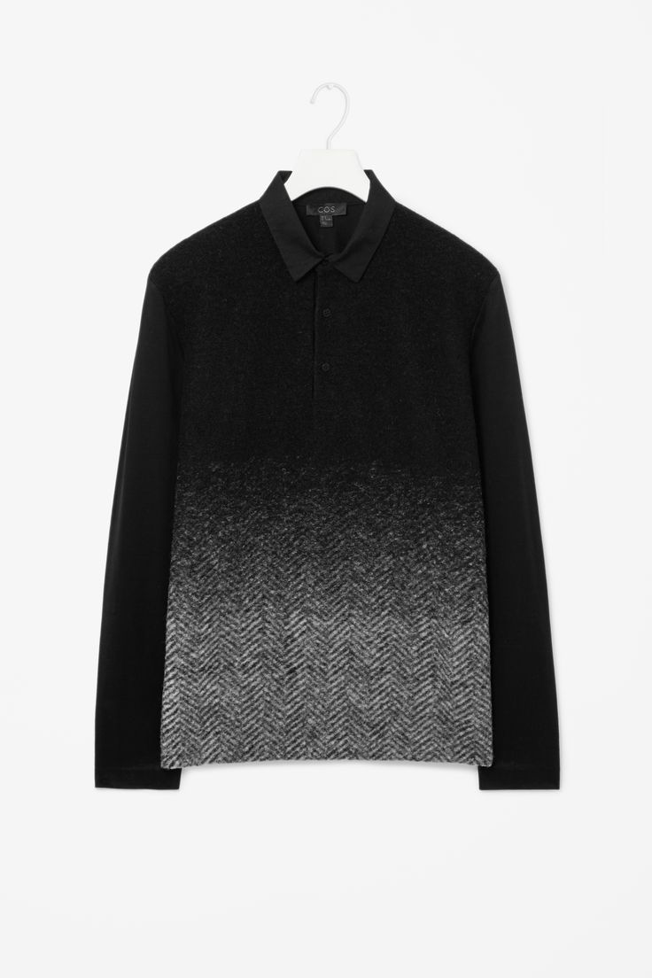Wool-front polo shirt