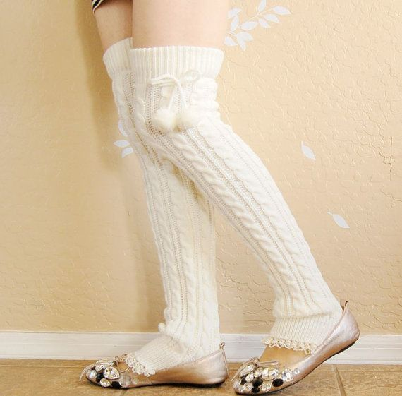 Very warm  Lacy Leg Warmers.Cute white sold out,Charcal long leg warmers,Christmas gift for her,boot socks with white lace ,boot long cuffs