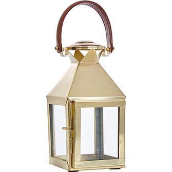 Gold-Toned Boxy Lantern