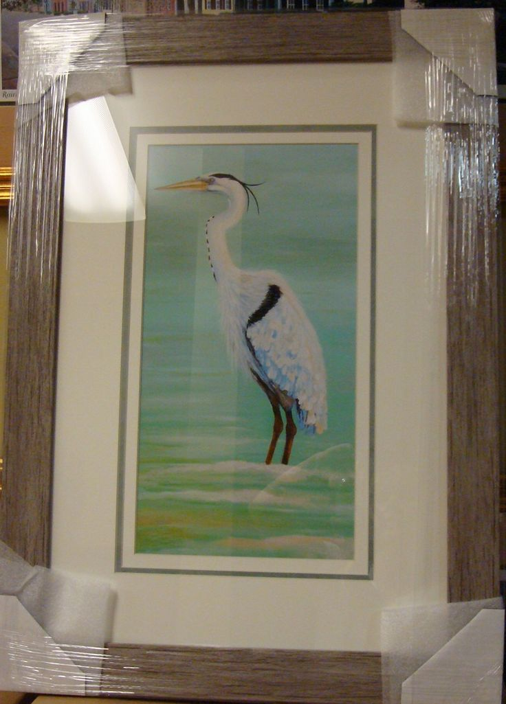 driftwood framed print sales coastal bird