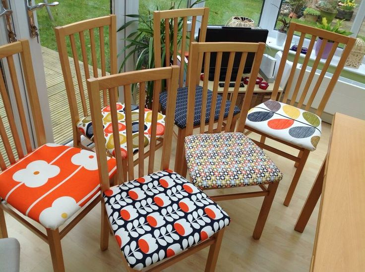 Upcycled dining chairs by a fellow Orla Kiely fan ❤️