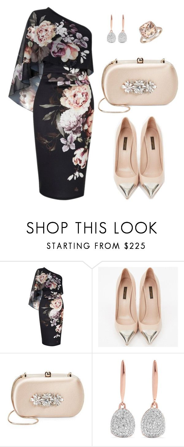 """""""Floral Outfit Party"""" by salbiylaazzara-fashion on Polyvore featuring Lipsy, Louis Vuitton, Badgley Mischka, Monica Vinader and Blue Nile"""