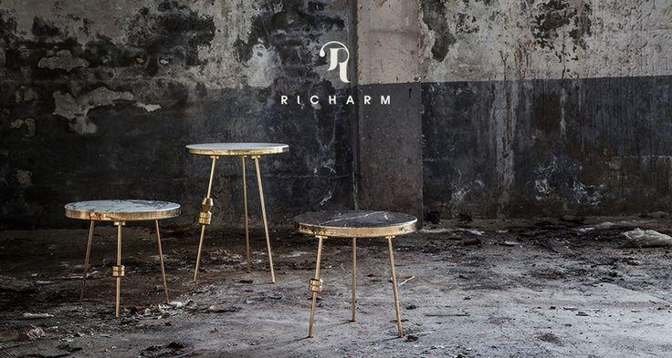 Richarm Table 01  Metal & Marble table   #furniture #design #marble…