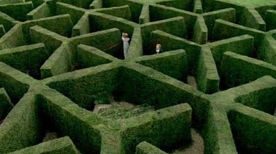 green square: On the scent of a maze: a maze at Chenies Manor in Buckinghamshire.