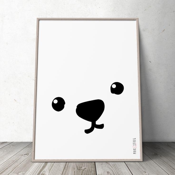 Den minimalistiske 'Baby' Plakat vil med garanti sætte prikken over i'et i et lækkert indrettet børneværelse. Lækker sort-hvid effekt og sød grafik.