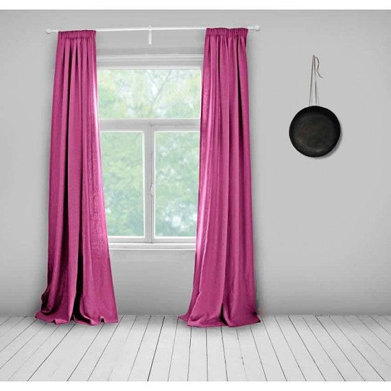 1000 Ideas About Pink Curtains On Pinterest Silk Curtains Elegant Living Room And Pink Silk