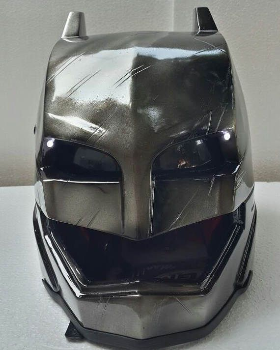 Motorcycle Helmets Dot >> Armored Batman Motorcycle Helmet With Led Dot Approved Basic Helmet | Custom helmets, Helmets ...
