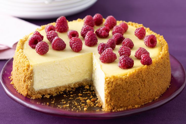 Celebrate the fourth of July with this creamy, tangy baked cheesecake - a Big Apple classic!