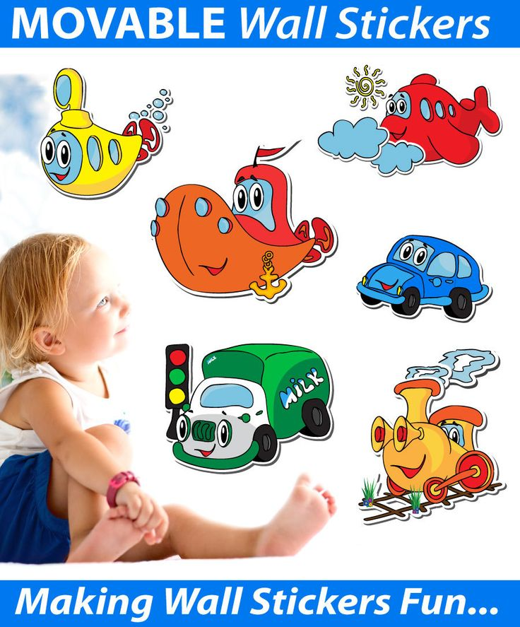 Smartwalling - Wall Stickers - Cars, Planes, Trains Wall Stickers - Totally Movable, $9.95 (http://www.smartwalling.com.au/cars-planes-trains-wall-stickers-totally-movable/)