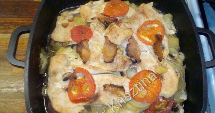 Mennyei Zöldséges csirkemell recept! Egy könnyű, egyszerű étel.
