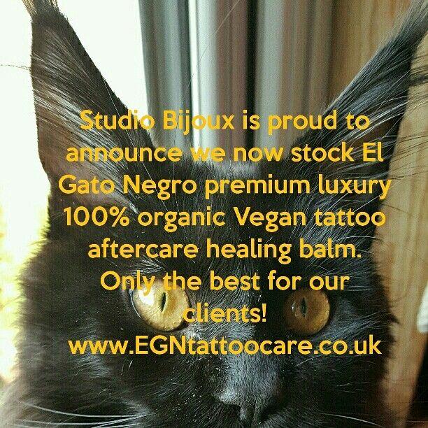 My studio, Studio Bijoux Bradford UK, now stocks El Gato Negro premium luxury tattoo aftercare balm.