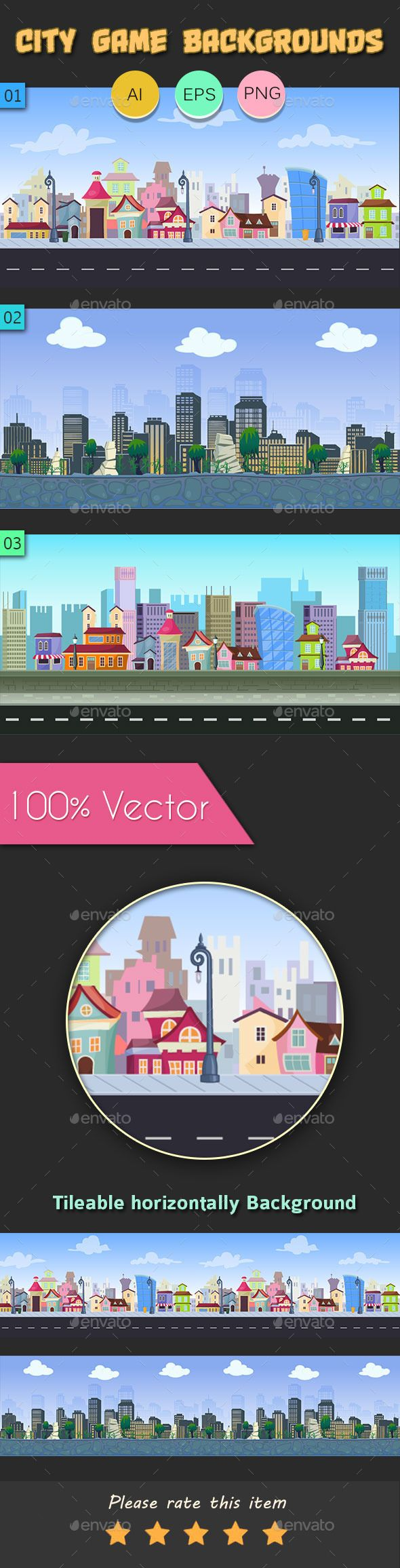 City Game Background Download here: https://graphicriver.net/item/-city-game-background-/11194223?ref=KlitVogli
