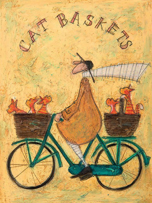 Leinwandbild Cat Baskets von Sam Toft – Birgit Mittendorf