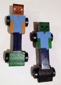 Minecraft Pinewood derby car, wow wish I would have seen this last week!