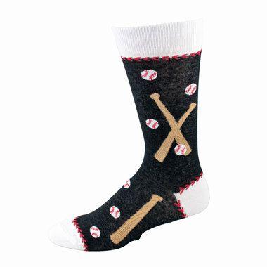 Men's Black & White Baseball Socks