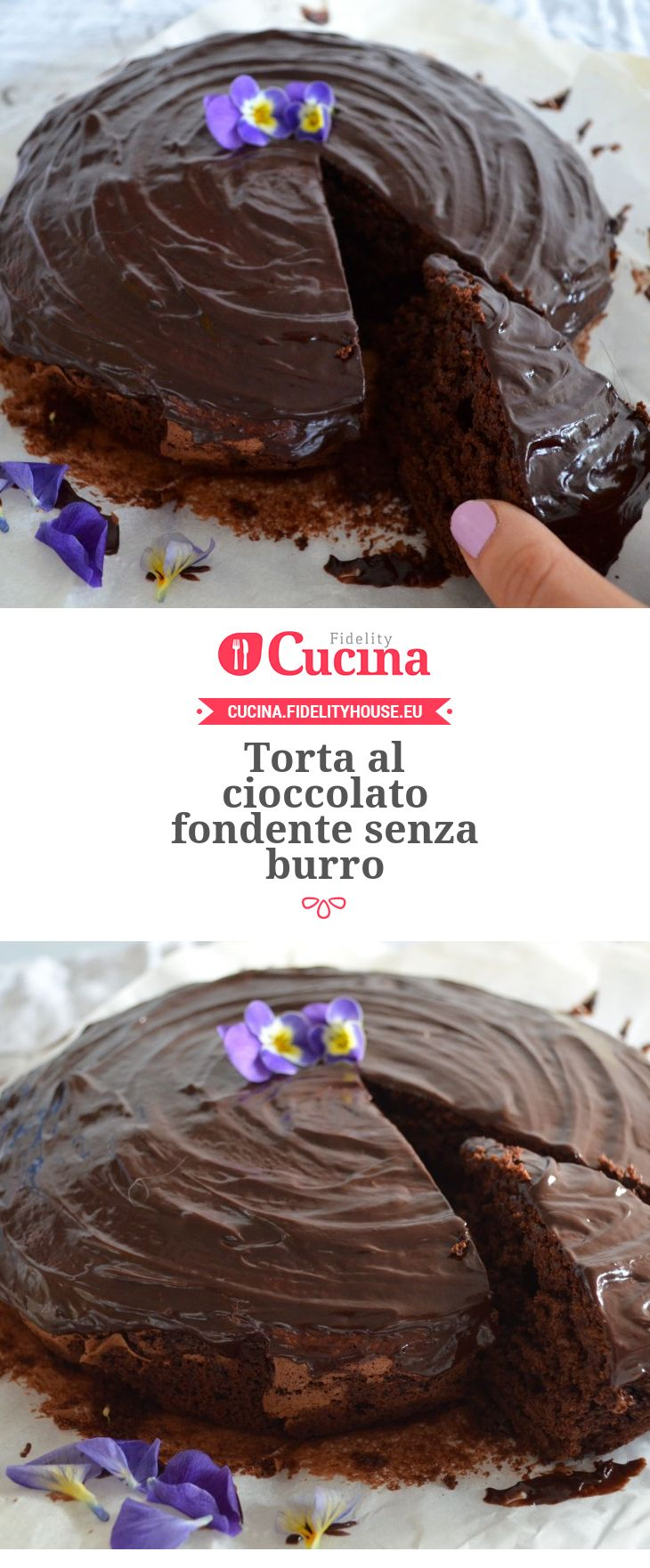 Torta al cioccolato fondente senza burro