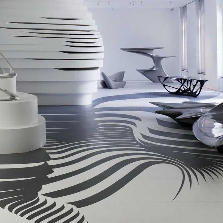 Zaha hadid interior pinterest the floor graphics for Architecture interieur design