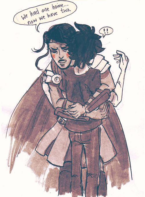 The she did something so unexpected Nico would later think he dreamed it. She walked up to Nico, who was standing to one side in the shadows, as usual. She grabbed his hand and pulled him gently into the firelight. (Blood of Olympus) | art by Happynicos