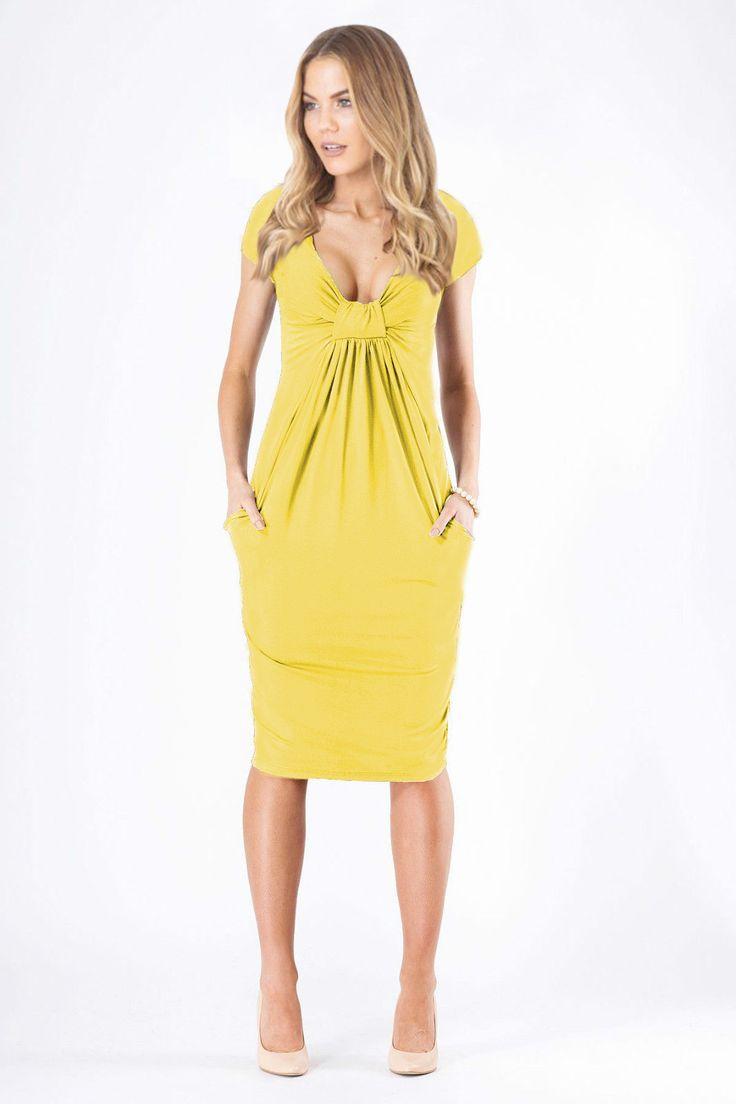 Fashion pure color v neck womenus dress products v necks and colours
