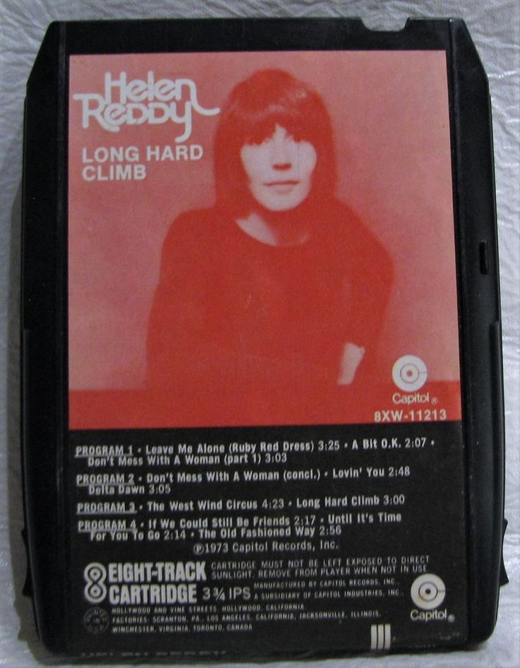 Helen Reddy 8 Track Tape Cartridge Long Hard Climb Delta Dawn Capitol Records