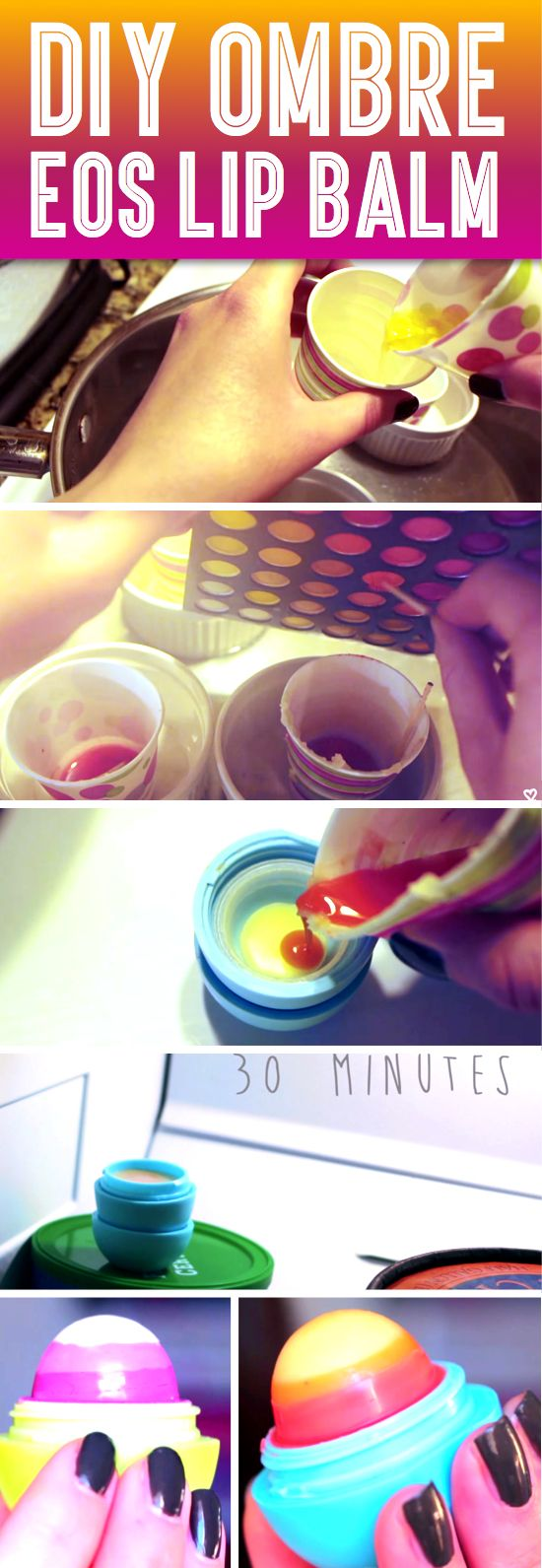 Easy DIY Ombre EOS Lip Balm!