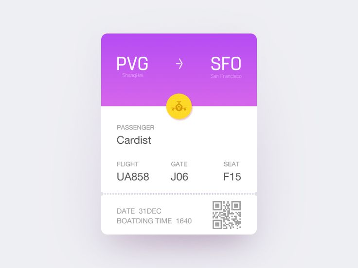 Boarding Pass Animated by Cardist