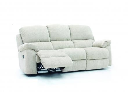 The Leona 3 Seater Recliner Sofa in faux suede finish will add a touch of class to your room and is ideally suited to a traditional setting.   Featuring 2 reclining seats this sofa is versatile for both sitting and relaxing. Faux suede is not only pleasant to touch but is also durable and is ideal for family living.   Pocket sprung seats. 10 year frame guarantee on this sofa