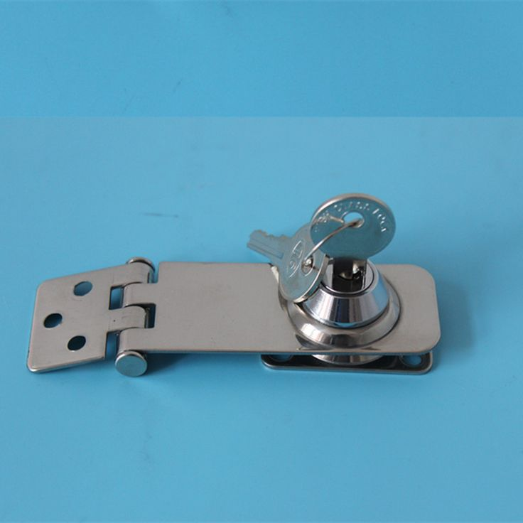 "A Pair 3""Stainless Steel Security Hasp With Key Door Padlock Lock Shed Door Gate"