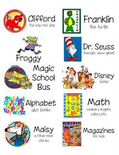 KinderTastic: daily 5 Classroom Library Book Basket Labels