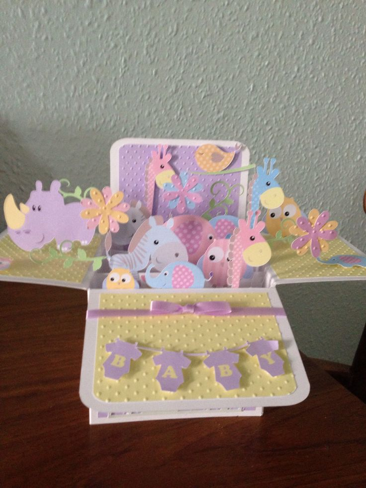 Baby pop up box card
